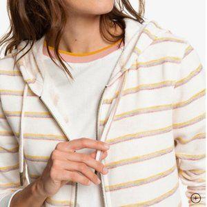 ✨NWT Roxy Trippin Zip-Up Stripe Hoodie Small